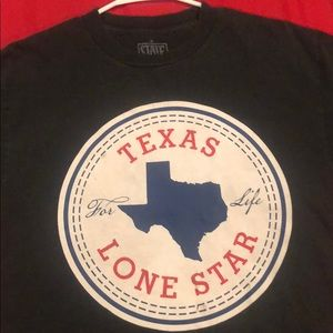 Womens State of Mine Texas Shirt V-Neck Graphic Tee Short Sleeve White All Sizes